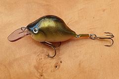 Wobbler Ugly Duckling 7 cm 21 Gramm sinkend UNIKAT Nr. 13 Mittelläufer