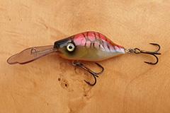 Wobbler Ugly Duckling 6 cm 15 Gramm schwimmend UNIKAT Nr. 14 Tiefläufer