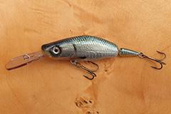 Wobbler Ugly Duckling 8,5 cm 14 Gramm schwimmend UNIKAT Nr. 21 Tiefläufer