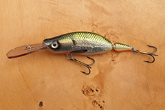 Wobbler Ugly Duckling 8,5 cm 13 Gramm schwimmend UNIKAT Nr. 23 Tiefläufer