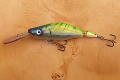 Wobbler Ugly Duckling 9,5 cm 12 Gramm schwimmend UNIKAT Nr. 24 Tiefläufer
