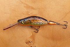 Wobbler Ugly Duckling 9 cm 13 Gramm schwimmend UNIKAT Nr. 33 Tiefläufer