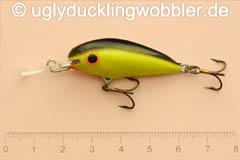 Wobbler Ugly Duckling 4 cm schwimmend  BGI (Schwarz-gold)
