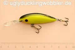 Wobbler Ugly Duckling 5 cm schwimmend  BGI (Schwarz-gold)