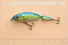 Wobbler Ugly Duckling 6,5 cm schwimmend zweiteilig Mittelläufer FTB (Firetiger blau)
