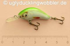 Wobbler Ugly Duckling 2,8 cm sinkend  SIL (Grün-weiß)