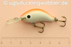 Wobbler Ugly Duckling 3,5 cm sinkend  UVFR (Rot-weiß)